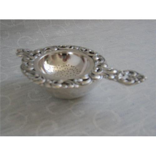 Antique Silver Tea Strainer On Stand 2266053