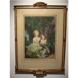 Vigee Le Brun Pinx print by Braun & Co. ! #2300784