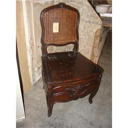 - Antique French Commode Chair-Late 1800's #2301254
