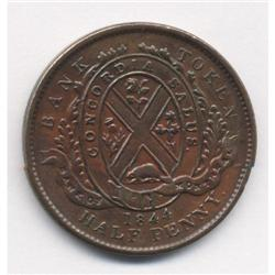 1844 Bank of Montreal Province of Canada Token Breton #527