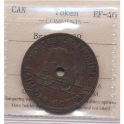 Montreal & Lachine Railroad Company Third Class Token Breton #530
