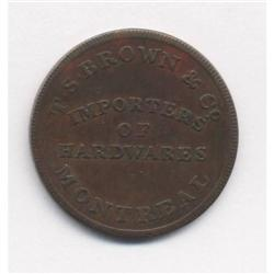 Lower Canada T.S. Brown & Co Breton Token #561