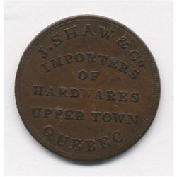 Lower Canada J. Shaw & Co. Importers Token Breton #565