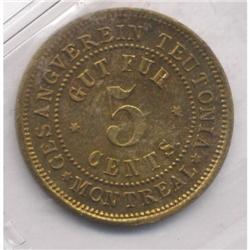 GUT FUR 5 Cents Token Breton #589
