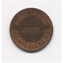 1855 PEI Fisheries and Agriculture Token Breton #920