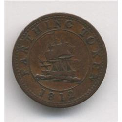 1812-14 Lower Canada Farthing Token Breton #991