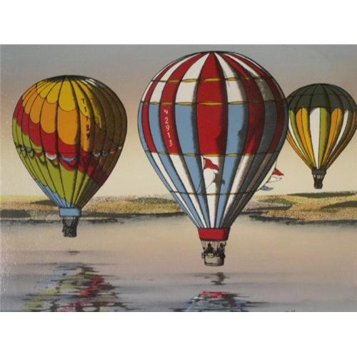 "Vintage Oil Painting ""Hot Air Balloon Race""#2350065"