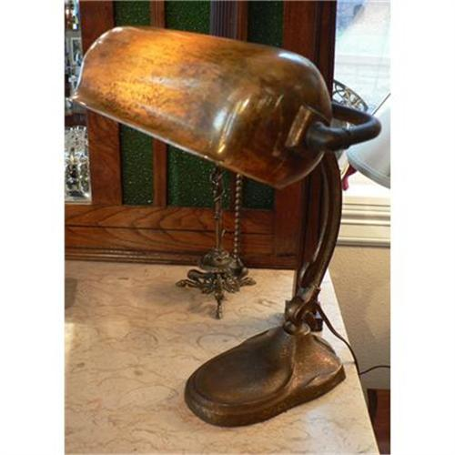 - Antique Handel Bronze Desk Lamp #2370966