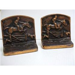 ENGLISH HUNTING SCENE - HEAVY BOOKENDS #2393577