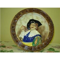 ANTIQUE MAJOLICA STYLE PLATE*HAPPY DAYS* #2393578