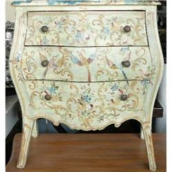 Paint Decorated Nightstand Commode #2393879