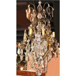 Pair of Bronze and Crystal Chandeliers #2393881
