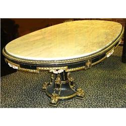 Marble Top Giltwood Dining Table #2393901