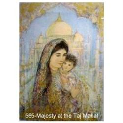 Her Majesty at the Taj Mahal signed & numbered #2393909