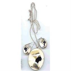 SALE Egyptian Sterling Silver Necklace and #2393925