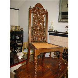 Pr. of Victorian Style Chairs High Back Wood! #2394131