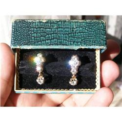 IMPERIAL RUSSIAN FABERGE 2.4ct DIAMOND EARRINGS#2394231