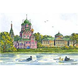 """Watercolor """"Old Moscow. 19 centuries""""  #2385104"""
