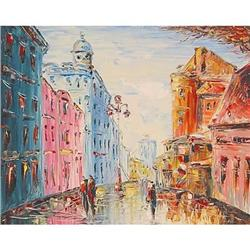 """""""Series 'Moscow Streets'"""" impressionism oil  #2385111"""
