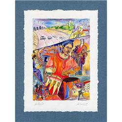 """""""City Blues"""" cubism's lithograph s/n Russian  #2385115"""