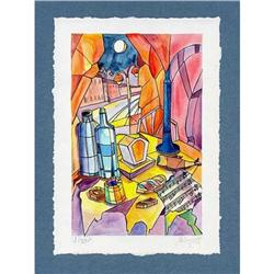 """""""Break at Night"""" cubism's lithograph s/n #2385119"""