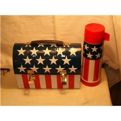 Stars and Stripes dome lunchbox 1970 #2385125