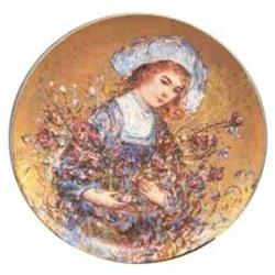 Lily porcelain plate  Flower Girl series by #2385394