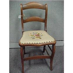 Wooden Chair with Embroidered Seat #2385418