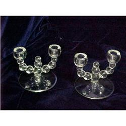 Pair Candlewick Double Candle Holders #2385422