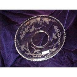 """Imperial """"Candlewick"""" Cake Plate - 16 inch  #2385425"""