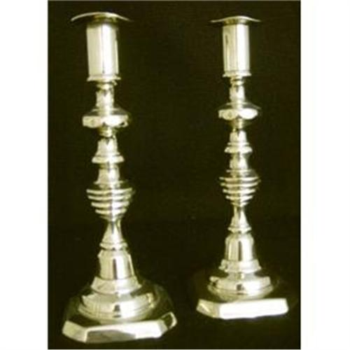 Pair Brass Victorian Candle Holders #2385480