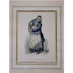 Finland Milkmaid Color Engraving #2385688