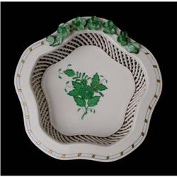 Open Weave Basket by Herend #2385702