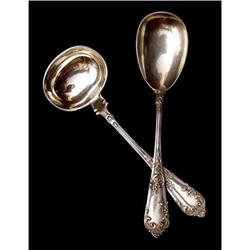 .800 Silver Serving Spoon and Ladle #2385703