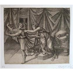 """Engraving """"Joseph and Potiphar's Wife"""" after #2385706"""