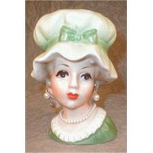Colonial Teen Head Vase Inarco E5882 Earrings 2370572
