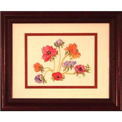 Anemones flowers Watercolor signed Reif #2389557