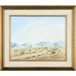 Mountain Sky landscape painting signed Black #2389562