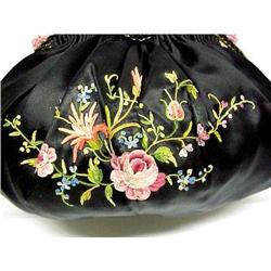 """20's Exquisite""""Ribbon"""" Embroidered Purse #2389720"""