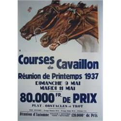Vintage Horseracing Poster - 1937 - French #2389751