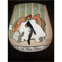 Hand Painted Belle Epoque Style Vase #2389753
