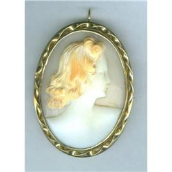 SHELL CAMEO OF A RED-HAIRED LADY #2389776