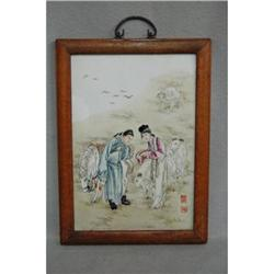 Chinese  Famille  Rose  Porcelain  Plaque #2389803