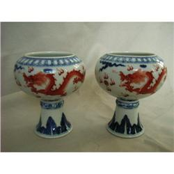 chinese porcelain stemcups #2389819