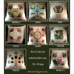 6 ARTS & CRATS EMBROIDERED PILLOWS #2389841