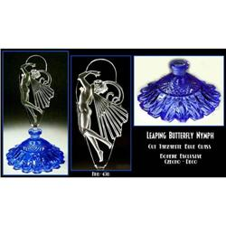 LEAPING BUTTERFLY NYMPH TANZ BLUE GLASS PERFUME#2389842