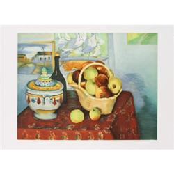 Cezanne  Stone lithograp Still Life with Apples#2389879