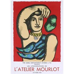 Leger   Woman on Red background #2389882