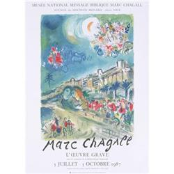 Chagall Lithograph 1987 Exhibition #2389892