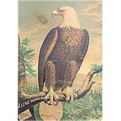 antique 1890s CASE THRESHING EAGLE POSTER  #2389928